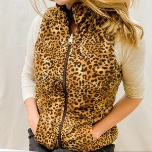 Softest! Faux Fir Vest, Interior Pockets Sz S